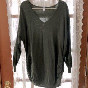 Army Green Maternity Sweater Tunic